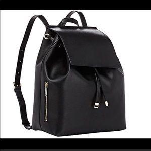 Barney's black backpack